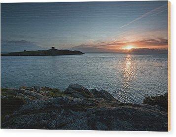 Sunrise At Dalkey Island Wood Print