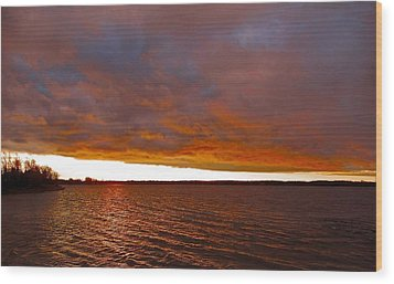 Sunrise At Ile-bizard ...  Wood Print by Juergen Weiss