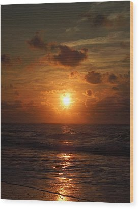 Sunrise At Myrtle Beach South Carolina Wood Print by Chad and Stacey Hall