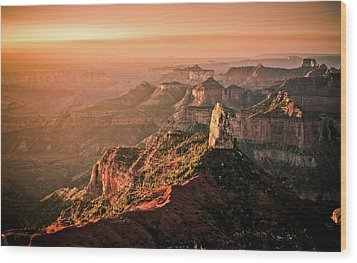 Sunrise At Point Imperial, Grand Canyon North Rim Wood Print by California CPA