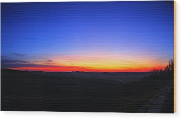 Sunrise At Skyline Drive Wood Print by Metro DC Photography