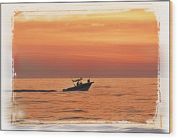 Wood Print featuring the photograph Sunrise Boat Ride by Janie Johnson