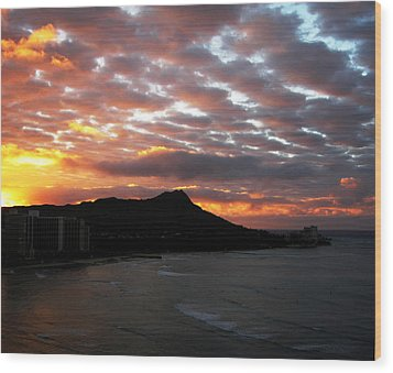 Sunrise Diamond Head I Wood Print