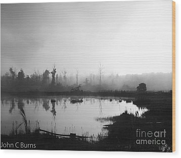 Wood Print featuring the photograph Sunrise Drilling by John Burns