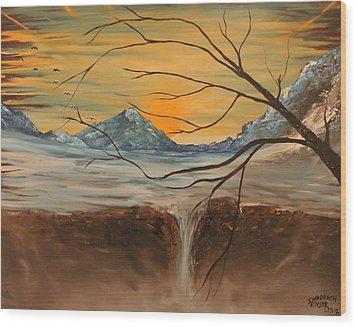 Sunrise End Wood Print by Shadrach Ensor