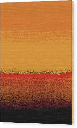 Sunrise In October Wood Print by James Mancini Heath