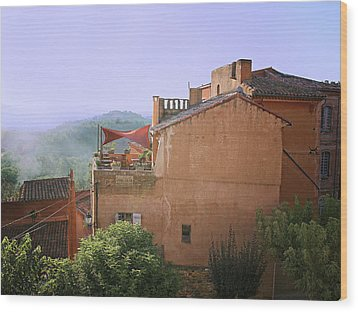 Sunrise In Roussillon Wood Print by Sandra Anderson