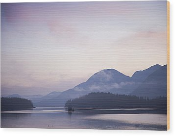 Sunrise In The Great Bear Rainforest Wood Print by Taylor S. Kennedy