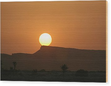 Sunrise In Tunisia Wood Print by Simona  Mereu