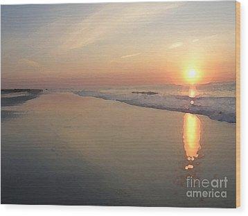 Sunrise On 30th Street Wood Print