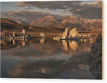 Sunrise On Mono Lake Wood Print