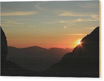 Sunrise On Mt.whitney Wood Print