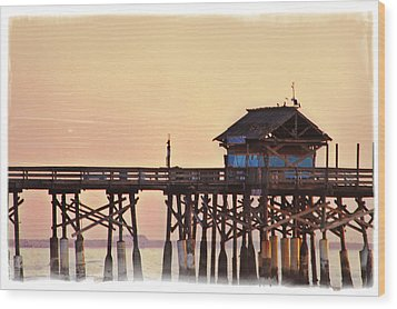 Wood Print featuring the photograph Sunrise On Rickety Pier by Janie Johnson