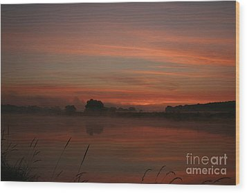 Sunrise On The River Wood Print by Torsten Dietrich