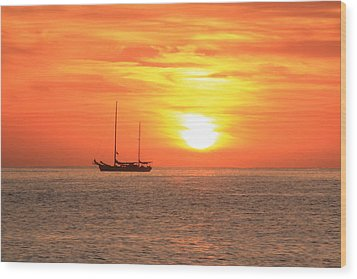 Sunrise On The Sea Of Cortez Wood Print by Roupen  Baker