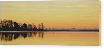 Sunrise Over Lake Wood Print by Patti White Photography