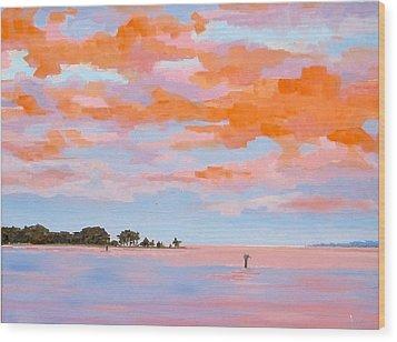 Sunrise Over Little England Wood Print