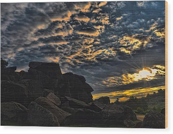 Sunrise Over Little Round Top Wood Print by Dave Sandt