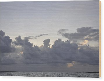 Sunrise Over Orient Bay Wood Print by Dottie Branchreeves