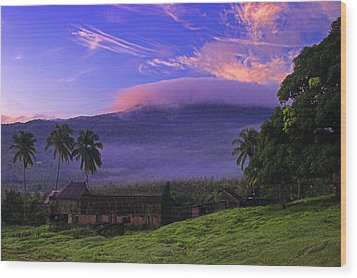 Wood Print featuring the photograph Sunrise Over Plantation Ruins- St Lucia by Chester Williams