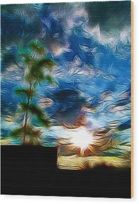 Sunrise Over Smithfield Wood Print