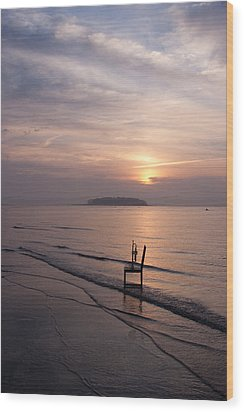 Sunrise Wood Print by Ron Smith