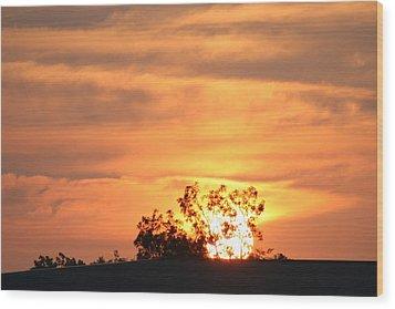 Sunrise Wood Print by Rusty Voss