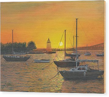 Wood Print featuring the painting Sunrise Sunset by Stuart B Yaeger