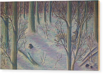 Sunrise Watch Wood Print by Thomas Maynard