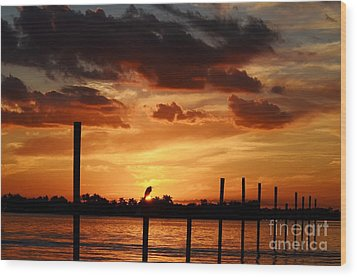 Sunset 1-1-12 Wood Print by Lynda Dawson-Youngclaus