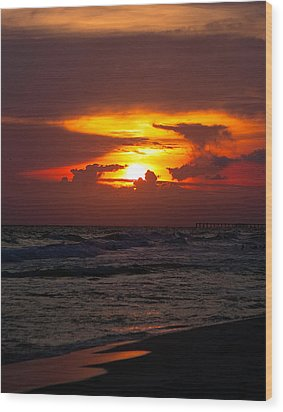 Wood Print featuring the photograph Sunset by Anna Rumiantseva