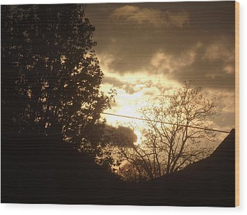 Wood Print featuring the photograph Sunset - April 30 2012 by Martin Blakeley