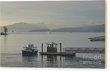 Sunset Aquatic Beach Centre Vancouver Bc Canada Wood Print by Andy Smy