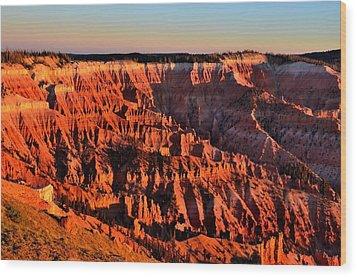Sunset At Cedar Breaks Wood Print by Mark Bowmer