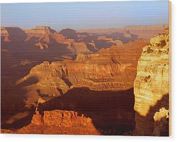Wood Print featuring the photograph sunset at Grand by Rima Biswas