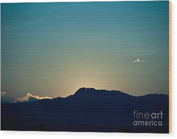 Sunset At Horsetooth Rock Wood Print by Harry Strharsky