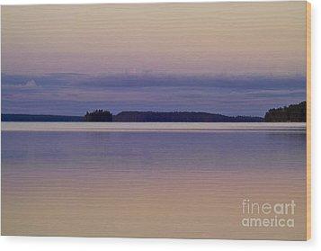 Sunset At Lake Muojaervi Wood Print by Heiko Koehrer-Wagner