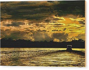 Sunset At Ri Negro Wood Print