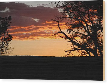 Sunset At Ridgway State Park Wood Print by Marta Alfred