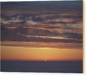 Wood Print featuring the photograph Sunset At Surfside 4 by Peter Mooyman