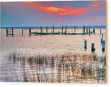Sunset Bay Iv Wood Print by Steven Ainsworth