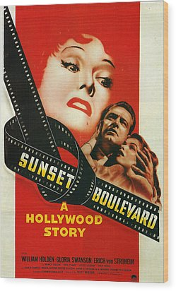 Sunset Boulevard Wood Print by Georgia Fowler