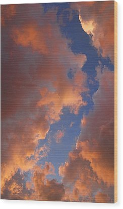 Sunset Cloudscape 1035 Wood Print by James BO  Insogna