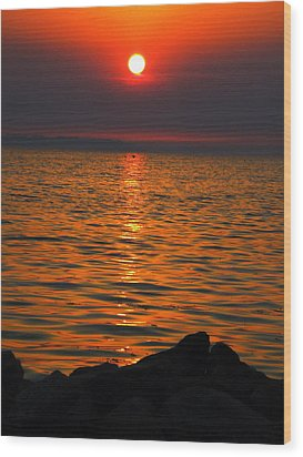 Wood Print featuring the photograph Sunset by Colette V Hera  Guggenheim