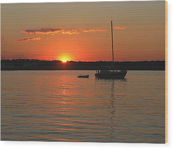 Wood Print featuring the photograph Sunset Cove by Clara Sue Beym
