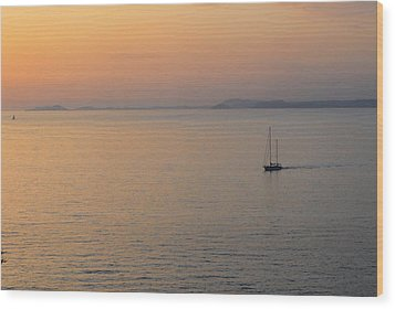 Sunset Cruise Wood Print by