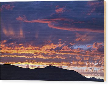 Sunset Wood Print by David R Frazier and Photo Researchers