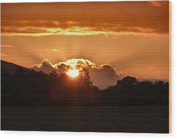 Sunset Wood Print by Debra Collins