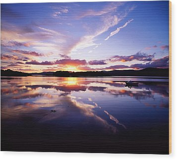 Sunset, Dinish Island Kenmare Bay Wood Print by The Irish Image Collection