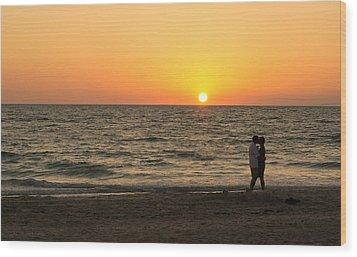 Sunset Embrace Wood Print